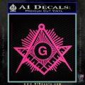 Freemason Masonic G Decal Sticker Pink Hot Vinyl 120x120