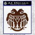 Freemason Scottish Rite Fraternal Decal Sticker D2 BROWN Vinyl 120x120