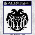 Freemason Scottish Rite Fraternal Decal Sticker D2 Black Vinyl 120x120