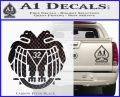 Freemason Scottish Rite Fraternal Decal Sticker D2 Carbon FIber Black Vinyl 120x97