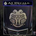 Freemason Scottish Rite Fraternal Decal Sticker D2 Carbon FIber Chrome Vinyl 120x120