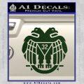 Freemason Scottish Rite Fraternal Decal Sticker D2 Dark Green Vinyl 120x120