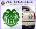 Freemason Scottish Rite Fraternal Decal Sticker D2 Green Vinyl Logo 120x97