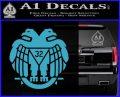Freemason Scottish Rite Fraternal Decal Sticker D2 Light Blue Vinyl 120x97