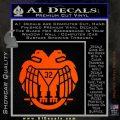 Freemason Scottish Rite Fraternal Decal Sticker D2 Orange Emblem 120x120