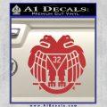 Freemason Scottish Rite Fraternal Decal Sticker D2 Red 120x120