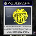 Freemason Scottish Rite Fraternal Decal Sticker D2 Yellow Laptop 120x120