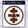 Freemason Tabernacle Of Holy Royal Arch Knight Templar Pries Decal BROWN Vinyl 120x120