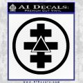 Freemason Tabernacle Of Holy Royal Arch Knight Templar Pries Decal Black Vinyl 120x120