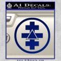 Freemason Tabernacle Of Holy Royal Arch Knight Templar Pries Decal Blue Vinyl 120x120