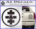 Freemason Tabernacle Of Holy Royal Arch Knight Templar Pries Decal Carbon FIber Black Vinyl 120x97