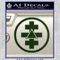 Freemason Tabernacle Of Holy Royal Arch Knight Templar Pries Decal Dark Green Vinyl 120x120