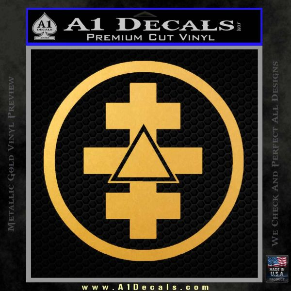Freemason Tabernacle Of Holy Royal Arch Knight Templar Pries Decal Gold Vinyl
