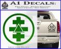 Freemason Tabernacle Of Holy Royal Arch Knight Templar Pries Decal Green Vinyl Logo 120x97