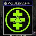 Freemason Tabernacle Of Holy Royal Arch Knight Templar Pries Decal Lime Green Vinyl 120x120