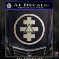 Freemason Tabernacle Of Holy Royal Arch Knight Templar Pries Decal Metallic Silver Emblem 120x120