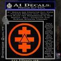 Freemason Tabernacle Of Holy Royal Arch Knight Templar Pries Decal Orange Emblem 120x120