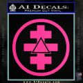 Freemason Tabernacle Of Holy Royal Arch Knight Templar Pries Decal Pink Hot Vinyl 120x120