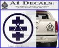 Freemason Tabernacle Of Holy Royal Arch Knight Templar Pries Decal PurpleEmblem Logo 120x97