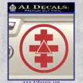 Freemason Tabernacle Of Holy Royal Arch Knight Templar Pries Decal Red 120x120