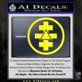 Freemason Tabernacle Of Holy Royal Arch Knight Templar Pries Decal Yellow Laptop 120x120