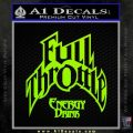 Full Throttle Decal Sticker Energy Drink Lime Green Vinyl 120x120