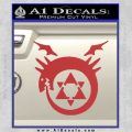 FullMetal Alchemist Decal Sticker Alphonses Blood Seal Red 120x120