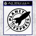 Futurama Planet Express Decal Sticker Black Vinyl 120x120