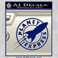 Futurama Planet Express Decal Sticker Blue Vinyl 120x120