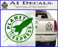 Futurama Planet Express Decal Sticker Green Vinyl Logo 120x97