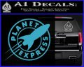 Futurama Planet Express Decal Sticker Light Blue Vinyl 120x97