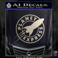 Futurama Planet Express Decal Sticker Metallic Silver Emblem 120x120