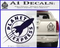 Futurama Planet Express Decal Sticker PurpleEmblem Logo 120x97