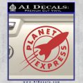Futurama Planet Express Decal Sticker Red 120x120
