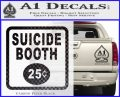 Futurama Suicide Booth Sign Decal Sticker Carbon FIber Black Vinyl 120x97
