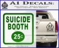 Futurama Suicide Booth Sign Decal Sticker Green Vinyl Logo 120x97