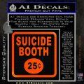 Futurama Suicide Booth Sign Decal Sticker Orange Emblem 120x120