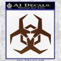 Futuristic Biohazard Decal Sticker D2 BROWN Vinyl 120x120