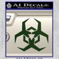 Futuristic Biohazard Decal Sticker D2 Dark Green Vinyl 120x120