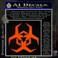 Futuristic Biohazard Decal Sticker D2 Orange Emblem 120x120