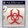Futuristic Biohazard Decal Sticker D2 Red 120x120