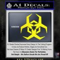 Futuristic Biohazard Decal Sticker D2 Yellow Laptop 120x120