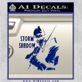 GI Joe Retaliation Storm Shadow Ninja Decal Sticker Blue Vinyl 120x120