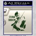 GI Joe Retaliation Storm Shadow Ninja Decal Sticker Dark Green Vinyl 120x120