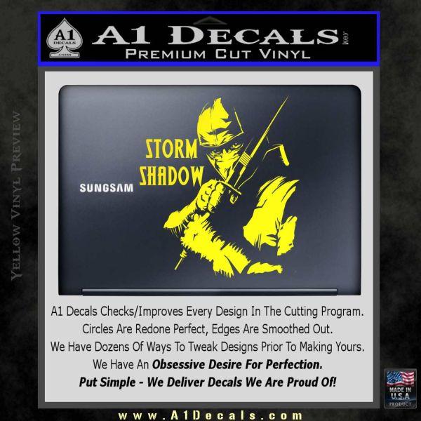 GI Joe Retaliation Storm Shadow Ninja Decal Sticker » A1 Decals