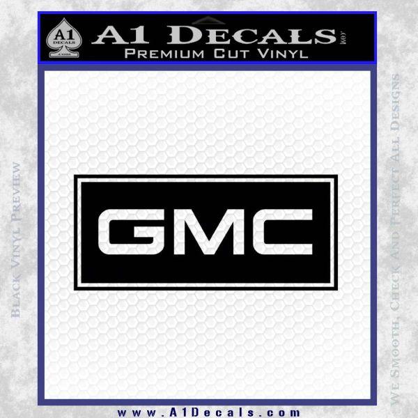 GMC Logo Decal Sticker RT Black Vinyl
