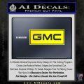 GMC Logo Decal Sticker RT Yellow Laptop 120x120