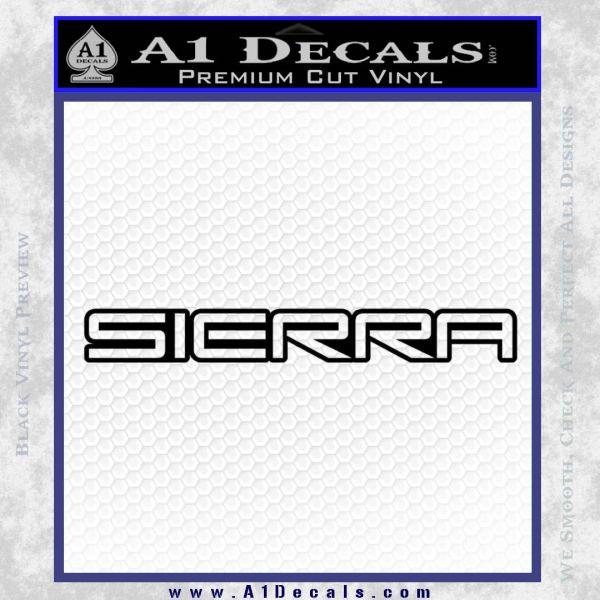 GMC SIERRA Decal Sticker Black Vinyl