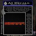 GMC SIERRA Decal Sticker Orange Emblem 120x120