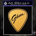 Gibson Guitar Pick Decal Sticker Gold Vinyl 120x120